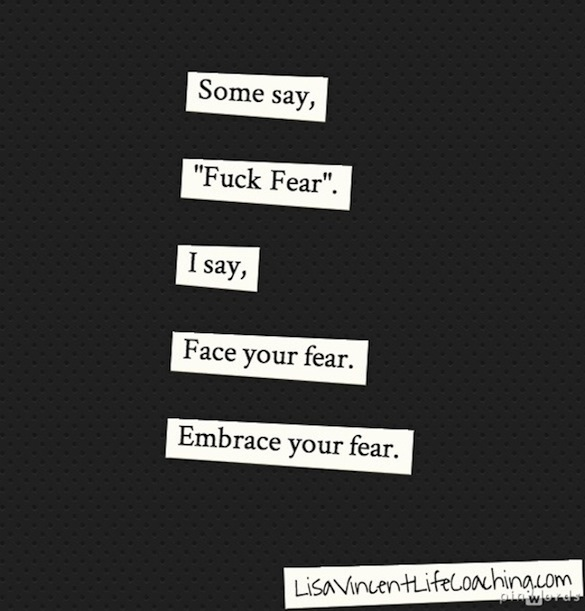 Fear Photo Quote